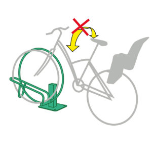 support à vélos anti-chute